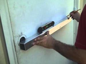 exit bar installing